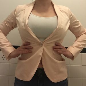 Baby pink H&M blazer